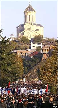 Митинг оппозиции в Тбилиси