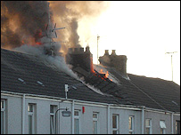 The fire in Llanelli
