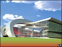 An artist's impression of the new stadium released in July