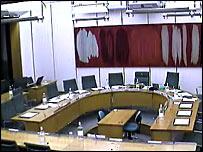 empty committee room