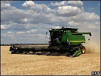 Barley harvesting in Australia