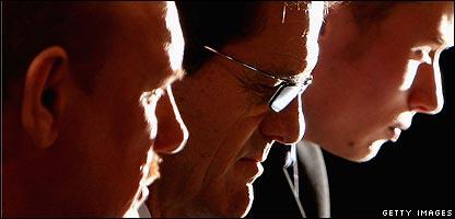 Brian Barwick, Fabio Capello, and translator