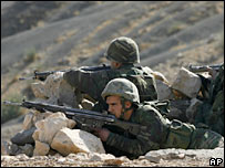Turkish soldiers on the Turkish-Iraqi border. File photo