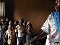 Desplazados cerca de Goma