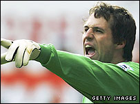 Aston Villa goalkeeper Thomas Sorensen