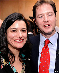 Nick Clegg with his wife Miriam
