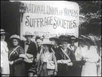 Protests by the women's suffrage movement