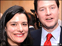 Miriam Gonzalez Durantez and Nick Clegg
