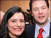 Nick Clegg and wife Miriam Gonzalez Durantez