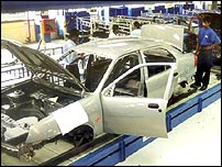 Car factory in India