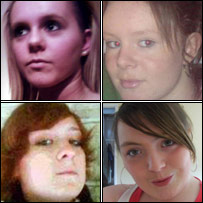Kira and Anya Evans, Nadine Fardon and Kimberly Patterson (from top left, clockwise)