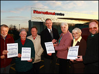 Telford church leaders with their 'rating' reports