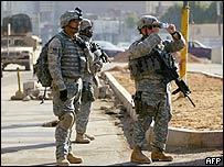 Soldados estadounidenses en Bagdad
