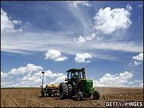 Campo sembrado en Iowa