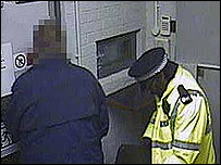 CCTV image from inside the Securitas depot