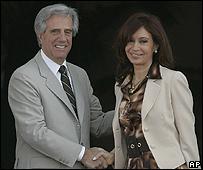 Tabaré Vázquez y Cristina Fernández de Kirchner