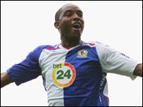 South Africa and Blackburn striker Benni McCarthy