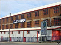 Airbus factory at Filton