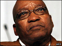 File photograph of Jacob Zuma