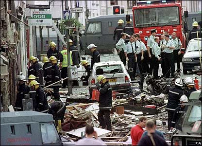 Bomb aftermath on 15 August, 1998.