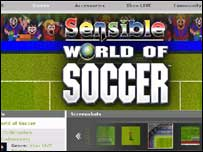 Screengrab of Sensible World of Soccer on Xbox website, Microsoft