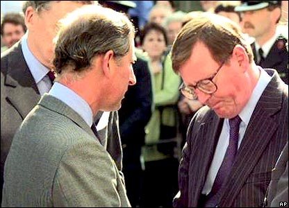 Prince Charles and then First Minister David Trimble