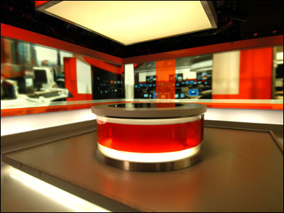 BBC newsroom used for the national news bulletins