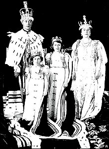 King George VI, Princess Margaret, Princess Elizabeth and Queen Elizabeth