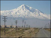 View of Mt Ararat from the AGRC plant