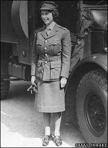 Princess Elizabeth in uniform, 1944