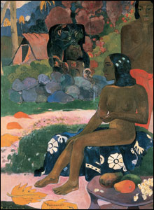 Paul Gauguin's Her Name was Vairaumati, 1892, courtesy of the Pushkin Museum of Fine Arts, Moscow