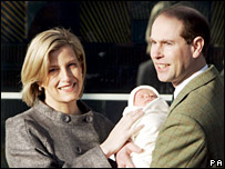 Earl and Countess of Wessex with baby