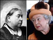 Queen Victoria and Queen Elizabeth ll
