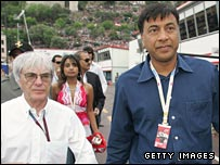 Bernie Ecclestone and Lakshmi Mittal