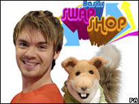 Barney Harwood and Basil Brush