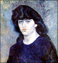 Detail of Pablo Picasso's Portrait of Suzanne Bloch