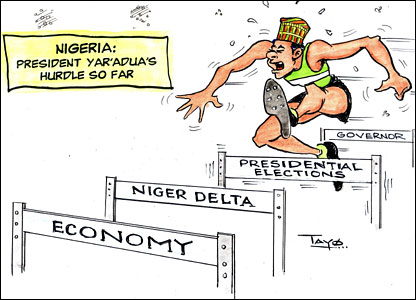 Cartoon about Nigeria's presidential elections