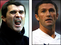 Roy Keane and Robbie Keane