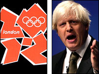 London 2012 logo and mayoral candidate Boris Johnson