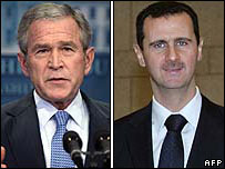 George W Bush, Bashar al-Assad
