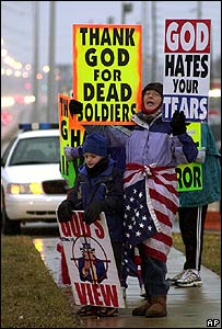Protest by the Westboro Baptist Church