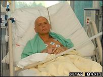 Alexander Litvinenko in a London hospital - 20 November 2006