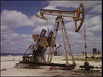 Pozo petrolero en Cuba