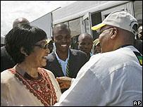 Winnie Madikizela-Mandela and Jacob Zuma