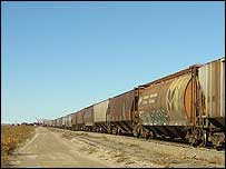 Freight train outside Churchill