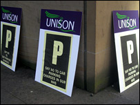 Parking charge placards