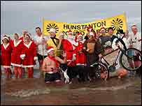 Hunstanton Christmas Day swimmers