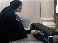 Nun in Gaza City