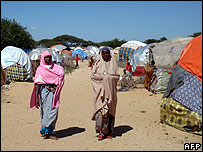 Displaced people's camp