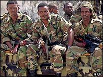 Ethiopian soldiers in Mogadishu